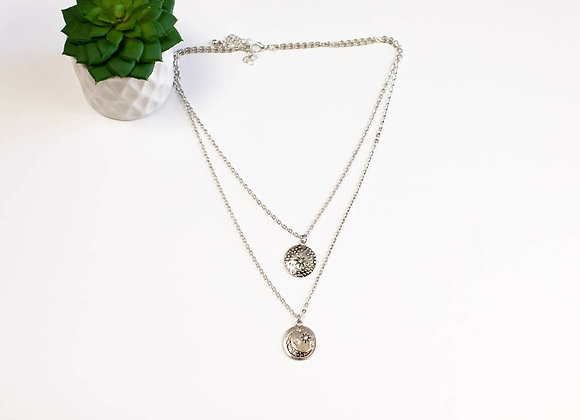 Star & Moon Boho Layered Necklace
