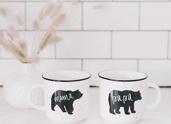Mama + Papa Campfire Mugs