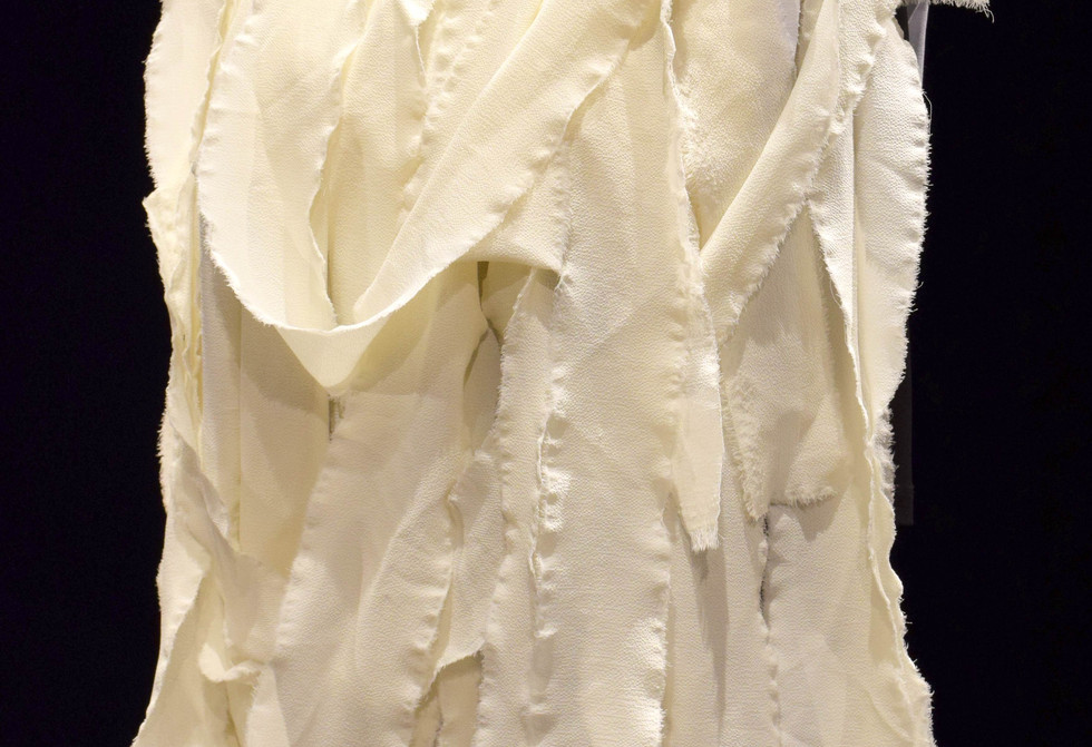 Sculptural Costume Fabric Strips Collar