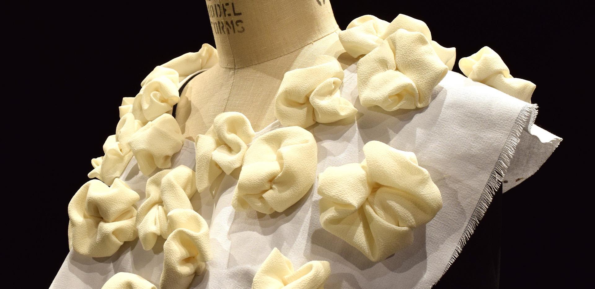Sculptural Costume Rosette Collar