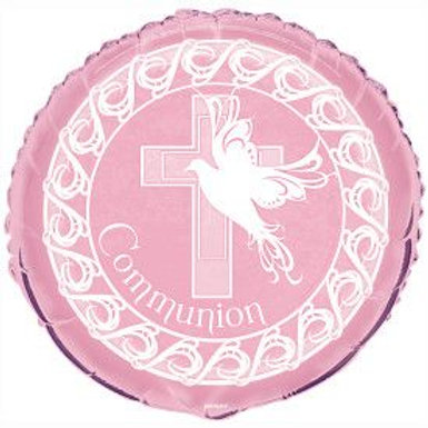 "Balloon Foil 18"" Communion Pink"