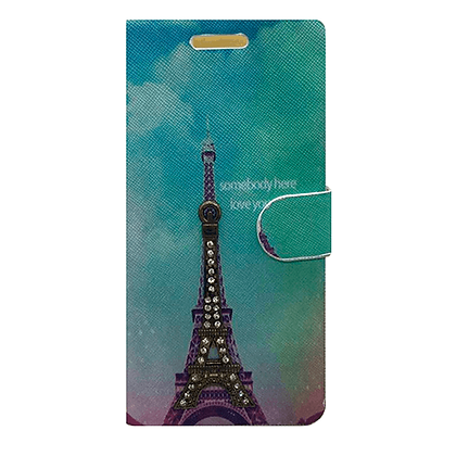 Capa Celular Carteira Torre Eiffel Motorola