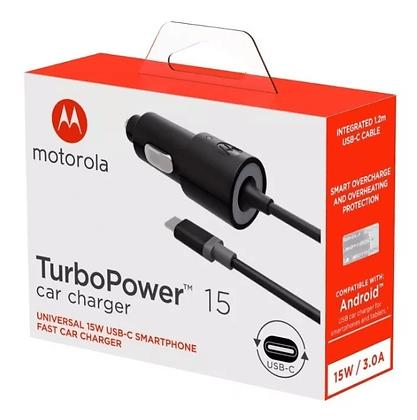 Carregador Celular Veicular Turbo Type-C  Motorola Original