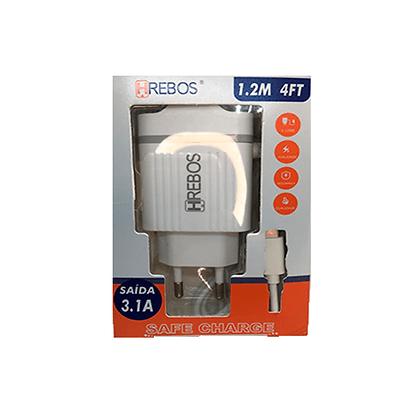 Carregador Celular Hrebos  TYPE-C  1.2M 3.1A HS-31