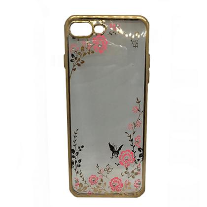 Capa Celular Transparente Flores Iphone