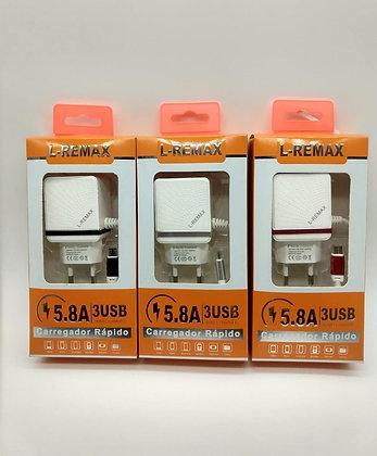 Carregador de Celular Rápido L-Remax 5.8