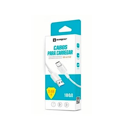 Cabo USB Micro USB Emborrachado V8 1m 2.4A Sumexr SS-A1V8