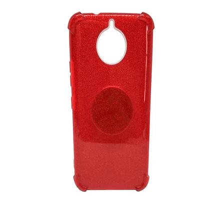 Capa Celular Glitter com Pop Socket Motorola
