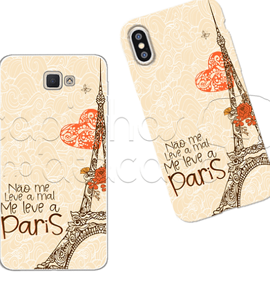 Capa Celular Personalizada Iphone Me Leva Paris