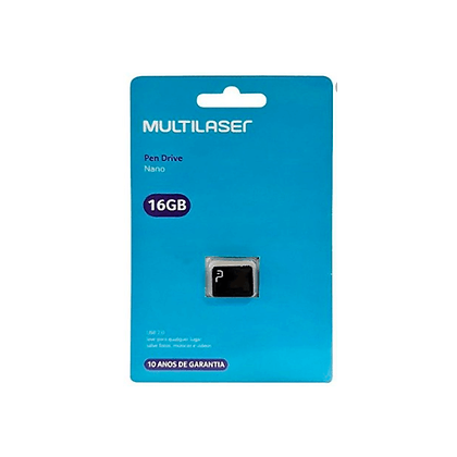 Pen Drive Nano 16GB Multilaser USB Pd054