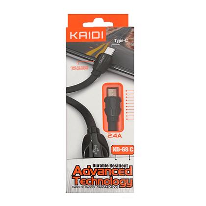 Cabo USB Kaidi V8 2.4A KD-69S