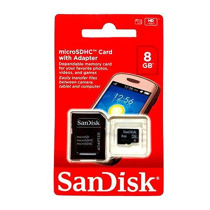 Cartão de Memoria Sandisk 8G