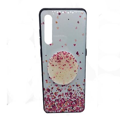 Capa Celular Chuva de Coração Pop Socket Xiaomi