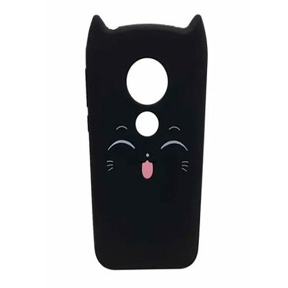 Capa Celular Emborrachada Gatinho Motorola