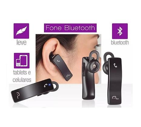 Fone de Ouvido Monoauricular Bluetooth - Multilaser -AU203