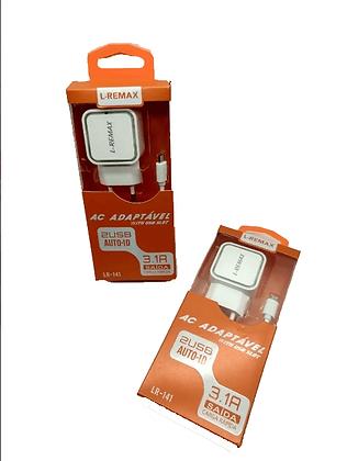 Carregador Celular Rápido 3.1A L-Remax
