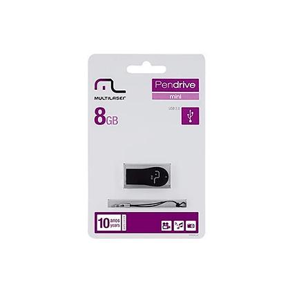 Pen Drive Mini Preto 8GB Pd770 Multilaser