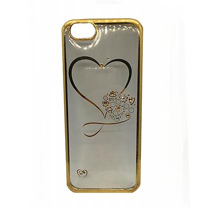 Capa Celular Transparente Coração Iphone