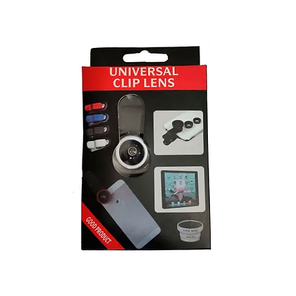 Clip Lentes Celular 3in1 Fisheye+Wide+Macro Universal