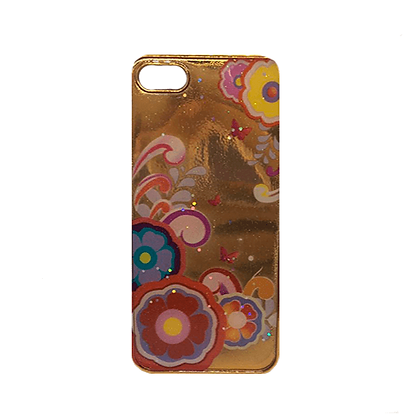 Capa Celular Flores Brilho Iphone