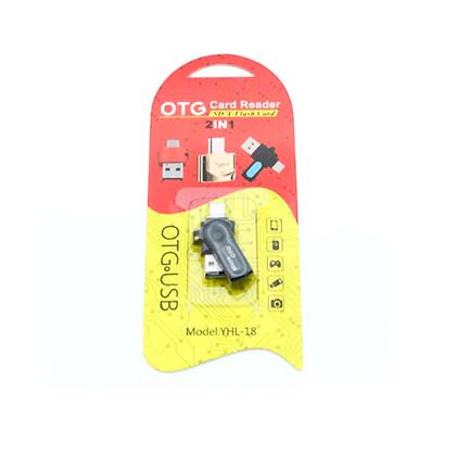 Adaptador Otg Card Reader Yhl-18 2IN1 micro