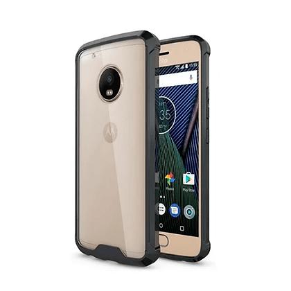 Capa Celular Quina Anti Shock Transparente Lateral Fumê Motorola