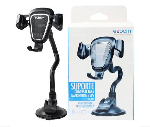 SUPORTE AUTOMOTIVO ARTICULADO PARA SMARTPHONE EXBOM - SP-T25-02890