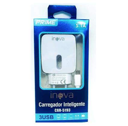 Carregador celular Rápido Inova Prime 5.1a 3 Entrada USB