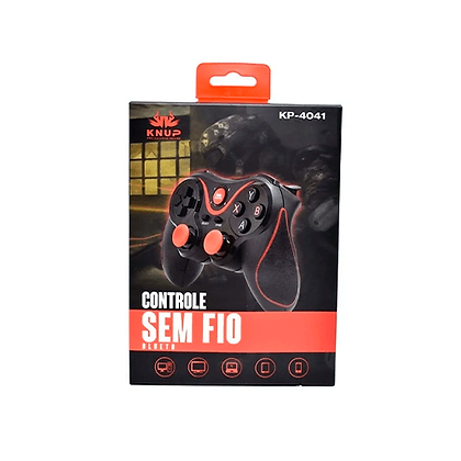Controle Sem Fio Bluetooth Gamepad Para Android e IOS Knup KP-4041