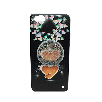 Capa Celular Pop Socket Coração Glitter