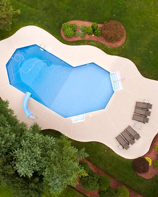 Aerial View of a Swimming Pool