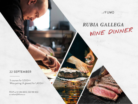 Rubia Gallega Wine Dinner