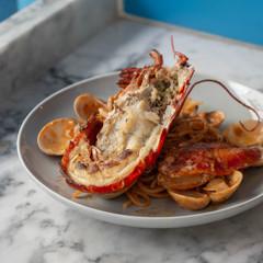 Canadian lobster alla chitara