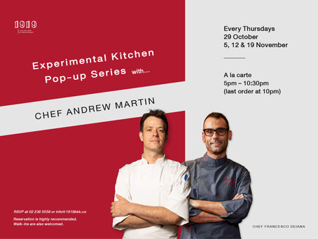 Experimental Kitchen Pop-up Series with…Chef Andrew Martin