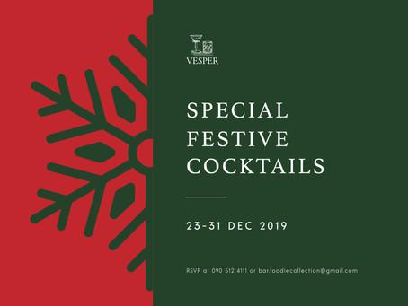 Vesper's Special Festive Cocktails