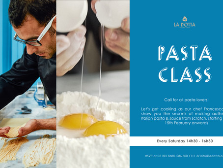 La Dotta introduces Artisanal Pasta Class every Saturdays