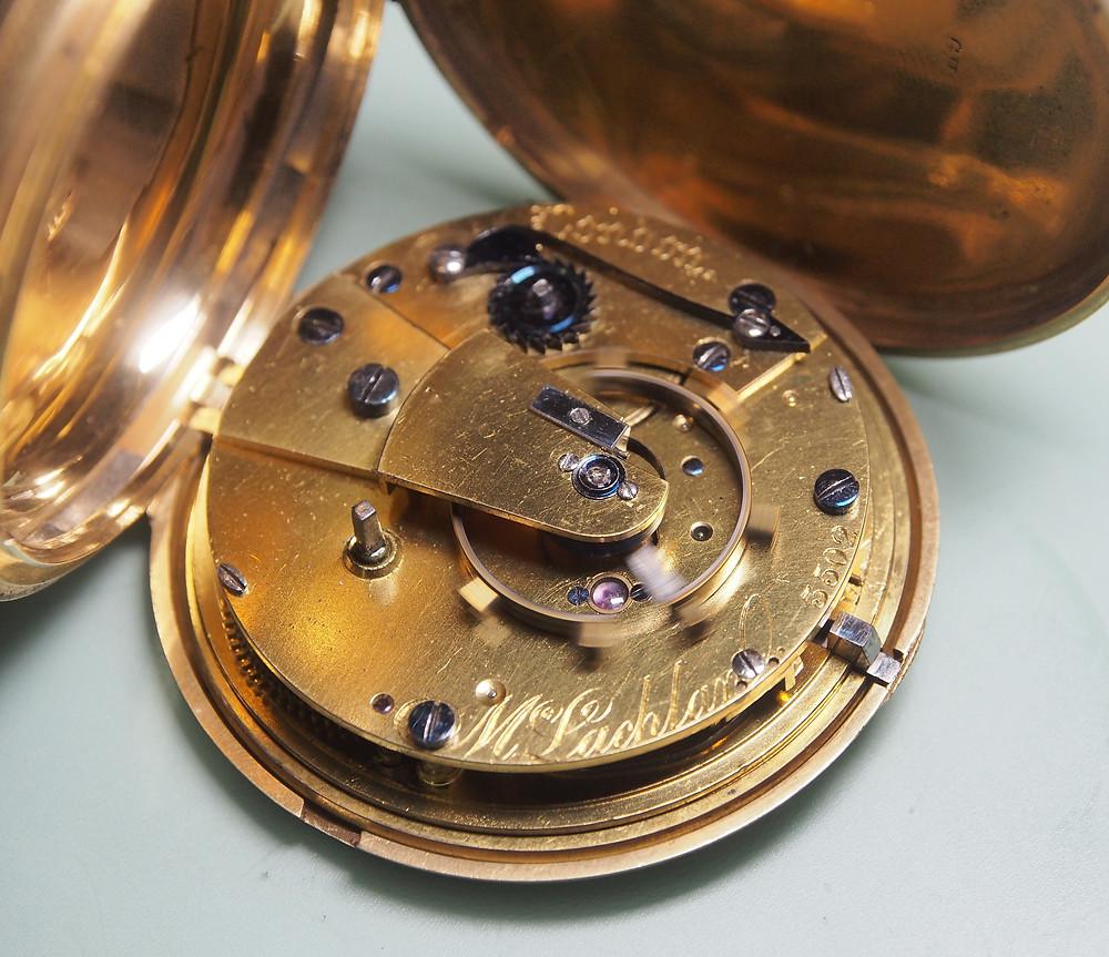 Antique Victorian 18ct gold key wind pocket watch