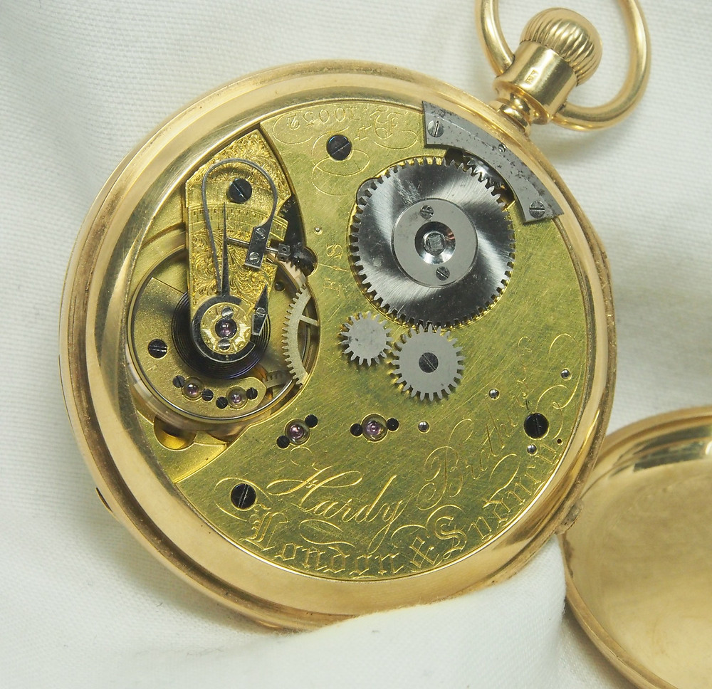 Antique Victorian Hardy Brothers 18ct gold chronograph pocket watch