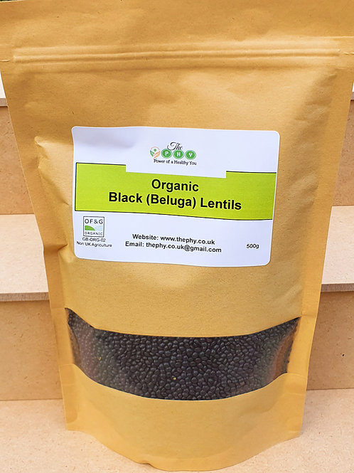 Organic Black Lentils 500g