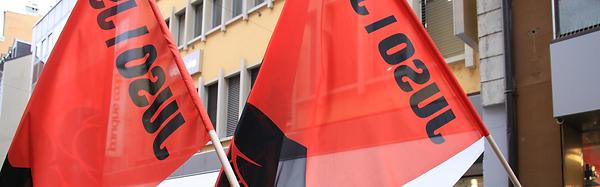 Drapeaux de la Jeunesse socialiste jurassienne - JSJ