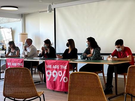 Conférence de presse: « Initiative 99%: dernière ligne gauche»