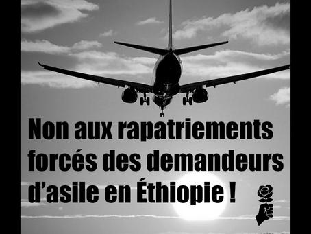 Communiqué – Non aux rapatriements forcés des demandeurs d'asile en Éthiopie !