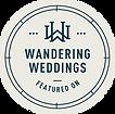 Wandering Weddings featured on badge Katrina S. Joseph Photography