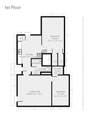 Floorplan for 404 E. Washington Ave. #1