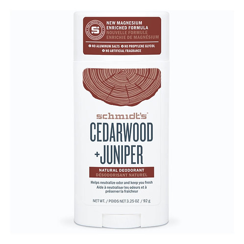 Schmidt's Cedarwood + Juniper Deodorant