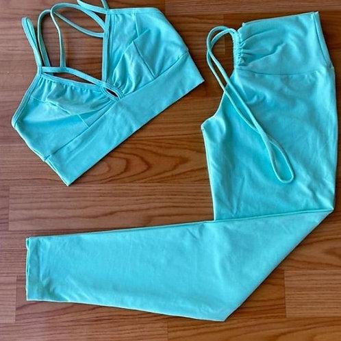 Conjunto legging tecido com compressão
