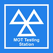 mot test sign - Donnas MOT and Tyre centre in March Cambridgeshire is an official MOT testing station