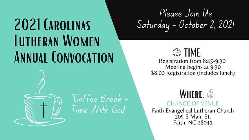 2021 Carolinas Lutheran Women Annual Con