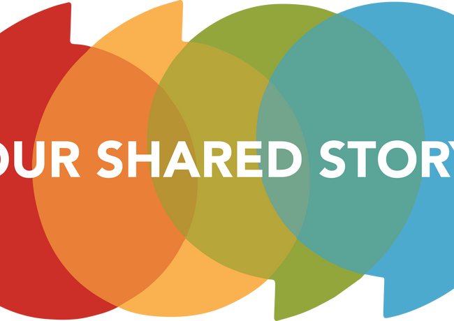 Logo for 'Our Shared Story'
