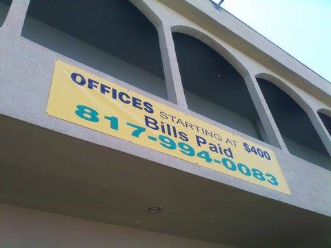 Offices to let banner
